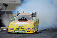 Oct. 8, 2012; Mohnton, PA, USA: NHRA funny car driver Johnny Gray during the Auto Plus Nationals at Maple Grove Raceway. Mandatory Credit: Mark J. Rebilas-