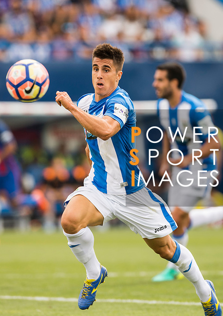 Unai Bustinza of Deportivo Leganes during their La Liga match between Deportivo Leganes and FC Barcelona at the Butarque Municipal Stadium on 17 September 2016 in Madrid, Spain. Photo by Diego Gonzalez Souto / Power Sport Images
