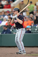 Atlanta Braves outfielder Todd Cunningham (20) during a spring training game against the Detroit Tigers on February 27, 2014 at Joker Marchant Stadium in Lakeland, Florida.  Detroit defeated Atlanta 5-2.  (Mike Janes/Four Seam Images)