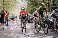Roman Kreuziger (CZE/Michelton-Scott) up the Côte de la Roche aux Faucons<br /> <br /> 104th Liège - Bastogne - Liège 2018 (1.UWT)<br /> 1 Day Race: Liège - Ans (258km)