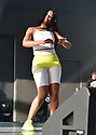 MIRAMAR, FLORIDA - MAY 22: Dancer Shayna performs live on stage with Nelson Rego during the 80 Reunion Freestyle Concert at The Miramar Amphitheater at Regional Park on May 22, 2021 in Miramar, Florida. ( Photo by Johnny Louis / jlnphotography.com )