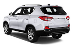 Car pictures of rear three quarter view of a 2018 Ssangyong Rexton Sapphire 5 Door SUV angular rear