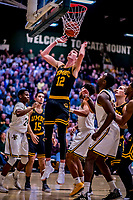 23 January 2019: UMBC Retriever Forward Brandon Horvath, a Sophomore from West River, MD, can only watch the ball drop through the net during first half action against the University of Vermont Catamounts at Patrick Gymnasium in Burlington, Vermont. The Retrievers handed the Catamounts their first America East loss of the season 74-61. Mandatory Credit: Ed Wolfstein Photo *** RAW (NEF) Image File Available ***