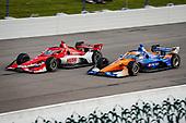 #8: Marcus Ericsson, Chip Ganassi Racing Honda and #9: Scott Dixon, Chip Ganassi Racing Honda