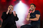 Spanish Singer Miguel Bose in collaboration with singer Pablo Alboran during the first stop of his tour 'Estaré' at Wizink Center in Madrid, June 23, 2017. Spain.<br /> (ALTERPHOTOS/BorjaB.Hojas)