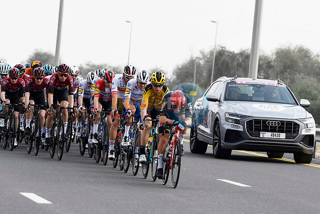Action from Stage 1 of the UAE Tour 2020 running 148km from The Pointe to Dubai Silicon Oasis, Dubai. 23rd February 2020.<br /> Picture: LaPresse/Fabio Ferrari | Cyclefile<br /> <br /> All photos usage must carry mandatory copyright credit (© Cyclefile | LaPresse/Fabio Ferrari)