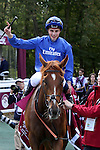 October 02, 2016, Chantilly, FRANCE -  Wuheida with William Buick up wins the Total Prix Marcel Boussac - Criterium des Pouliches (Gr. I) at  Chantilly Race Course  [Copyright (c) Sandra Scherning/Eclipse Sportswire)