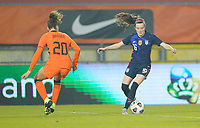 BREDA, NETHERLANDS - NOVEMBER 27: Rose Lavelle #16 of the United States moving with the ball during a game between Netherlands and USWNT at Rat Verlegh Stadion on November 27, 2020 in Breda, Netherlands.