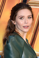 "Elizabeth Olsen<br /> arriving for the ""Avengers: Infinity War"" fan event at the London Television Studios, London<br /> <br /> ©Ash Knotek  D3393  08/04/2018"