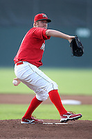 Batavia Muckdogs pitcher Anthony Ferrara (24) during a game vs. the State College Spikes at Dwyer Stadium in Batavia, New York June 26, 2010.   State College defeated Batavia 9-8.  Photo By Mike Janes/Four Seam Images