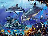 Interlitho, Lorenzo, FANTASY, paintings, dolphins, treasure, KL, KL3954,#fantasy# illustrations, pinturas