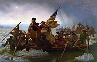 Washington Crossing the Delaware<br /> painted  by Emanuel Leutze, 1851