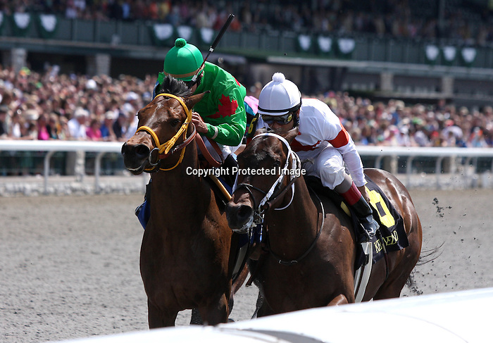 02 April 2010 Wetzel with Shaun Bridgmohan win the first race on opening day at Keeneland.
