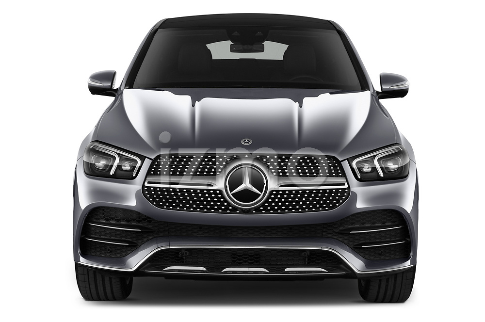 Car photography straight front view of a 2020 Mercedes Benz GLE - 5 Door SUV Front View