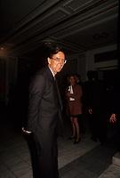 Le premier Ministre Robert Bourassa durant le referendum <br />  en 1992 (date inconnue)<br /> <br /> Photo:  Agence Quebec Presse