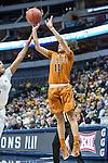 guard Brooke McCarty (11) shoots during Big 12 women's basketball championship final, Sunday, March 08, 2015 in Dallas, Tex. (Dan Wozniak/TFV Media via AP Images)