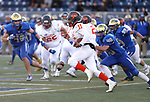 Bishop Gorman's Micah Bowens runs against Reed in the NIAA 4A state championship football game in Reno, Nev., on Saturday, Dec. 2, 2017. Gorman won the title 48-7. Cathleen Allison/Las Vegas Review Journal @NVMomentum