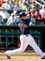 Matt LaPorta  -  Cleveland Indians - 2009 spring training.Photo by:  Bill Mitchell/Four Seam Images