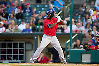 Worcester Red Sox Josh Ockimey (30) bats during a game against the Rochester Red Wings on September 3, 2021 at Frontier Field in Rochester, New York.  (Mike Janes/Four Seam Images)
