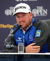 170719 | The 148th Open - Wednesday Practice<br /> <br /> Graeme McDowell of Northern Ireland at a media conference during practice for the 148th Open Championship at Royal Portrush Golf Club, County Antrim, Northern Ireland. Photo by John Dickson - DICKSONDIGITAL