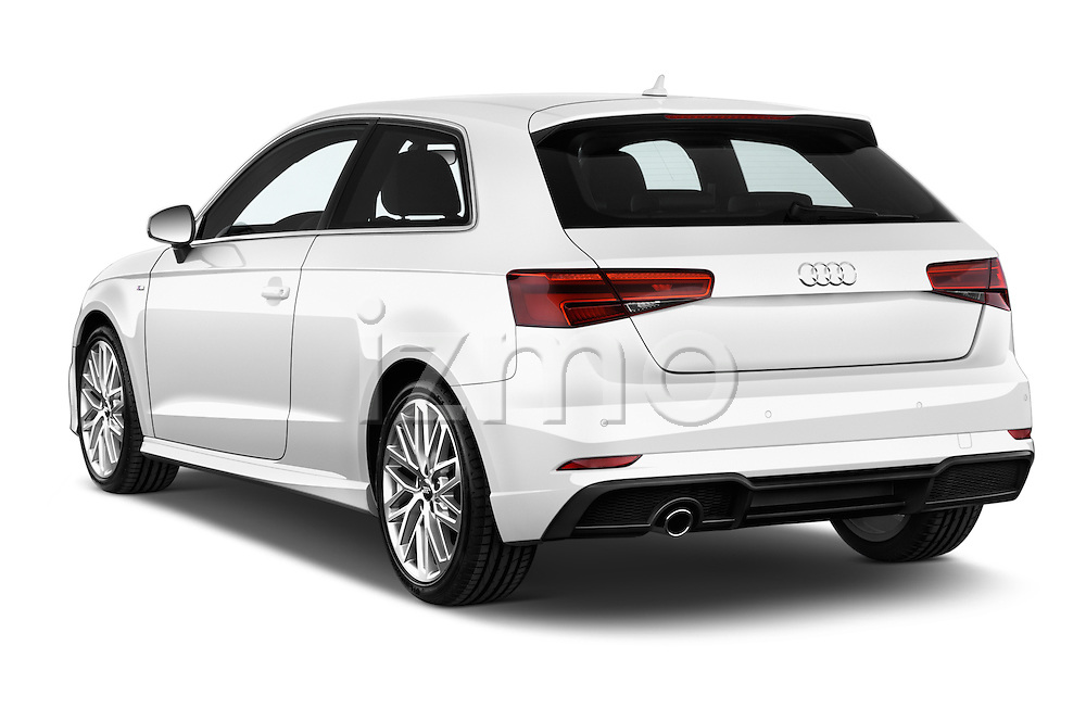 Car pictures of rear three quarter view of 2017 Audi A3 Sport 3 Door Hatchback Angular Rear