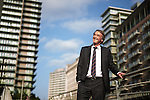 © Joel Goodman - 07973 332324 . 08/09/2015 . Salford , UK . Founder and CEO of Ineos , JIM RATCLIFFE in front of the Lowry Hotel in Salford . Photo credit : Joel Goodman