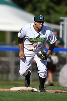 Jamestown Jammers third baseman Kevin Ross (23) during a game against the Mahoning Valley Scrappers on June 15, 2014 at Russell Diethrick Park in Jamestown, New York.  Jamestown defeated Mahoning Valley 9-4.  (Mike Janes/Four Seam Images)