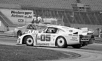 The #05 Porsche 935J of Miguel Morejon, Fernando Garcia, and Tico Almeida spins during the SunBank 24 at Daytona, Daytona International Speedway, Daytona Beach, FL, Feb. 4-5, 1984. (Photo by Brian Cleary/www.bcpix.com)