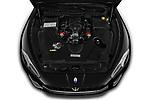 Car Stock 2019 Maserati Gran-Cabrio Sport 2 Door Convertible Engine  high angle detail view