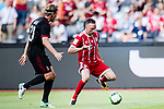 Bayern Munich Midfielder Franck Ribery (R) in action against AC Milan Defender Ignazio Abate (L) during the 2017 International Champions Cup China  match between FC Bayern and AC Milan at Universiade Sports Centre Stadium on July 22, 2017 in Shenzhen, China. Photo by Marcio Rodrigo Machado / Power Sport Images