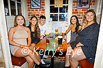 Enjoying the evening in Sean Ogs on Thursday, l to r: Michelle O'Donoghue (Castleisland), Laura Manning, Jack O'Neill, Emily Carey (Tralee) and Niamh Thornton