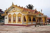 Myanmar, Burma.  Alodaw Pauk Pagoda, Nampan Village, Inle Lake, Shan State.