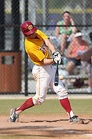 Seton Hill Griffins Josh Logan #35 during a game vs. Slippery Rock at Lake Myrtle Field in Auburndale, Florida;  March 5, 2011.  Seton Hill defeated Slippery Rock 14-1.  Photo By Mike Janes/Four Seam Images