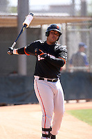 Hector Sanchez, San Francisco Giants minor league spring training..Photo by:  Bill Mitchell/Four Seam Images.