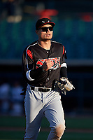 Lake Elsinore Storm right fielder Tirso Ornelas (23) during a California League game against the Lancaster JetHawks on April 10, 2019 at The Hanger in Lancaster, California. Lake Elsinore defeated Lancaster 10-0 in the first game of a doubleheader. (Zachary Lucy/Four Seam Images)