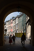Decaying and often empty buildings in the medieval centre of the Polish city of Lublin are being renovated as  tourism brings more visitors to its cobbled streets and alleys.