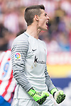 Goalkeeper Kepa Arrizabalaga Revuelta of Athletic Club reacts during their La Liga match between Atletico de Madrid vs Athletic de Bilbao at the Estadio Vicente Calderon on 21 May 2017 in Madrid, Spain. Photo by Diego Gonzalez Souto / Power Sport Images