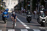 Julian Alaphilippe (FRA/Deceuninck - Quick Step) <br /> <br /> Elite Men World Championships - Road Race<br /> from Antwerp to Leuven (268.3km)<br /> <br /> UCI Road World Championships - Flanders Belgium 2021<br /> <br /> ©kramon