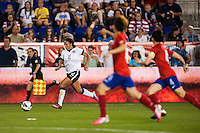 United States (USA) forward Sydney Leroux (2). The women's national team of the United States defeated the Korea Republic 5-0 during an international friendly at Red Bull Arena in Harrison, NJ, on June 20, 2013.