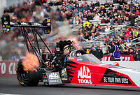 Feb 9, 2020; Pomona, CA, USA; NHRA top fuel driver Doug Kalitta during the Winternationals at Auto Club Raceway at Pomona. Mandatory Credit: Mark J. Rebilas-USA TODAY Sports