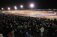 A huge crowd watches the meeting - Lee Richardson Memorial Speedway Meeting at Arena Essex Raceway, Purfleet - 28/09/12 - MANDATORY CREDIT: Gavin Ellis/TGSPHOTO - Self billing applies where appropriate - 0845 094 6026 - contact@tgsphoto.co.uk - NO UNPAID USE.