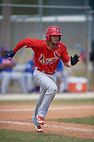 St. Louis Cardinals Ryan McCarvel (12) during a minor league Spring Training game against the New York Mets on March 28, 2017 at the Roger Dean Stadium Complex in Jupiter, Florida.  (Mike Janes/Four Seam Images)