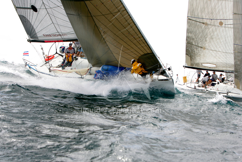 Farr 40 National 2006 regatta in Pittwater, Sydney..The FARR ® 40 One Design was conceived as a high performance 40 footer that would gather the benefits of modern materials into an economic platform for short course racing that was demanding, exciting and not beyond the capabilities of relatively inexperienced and mature crew members.