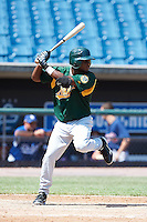 Carlos Williams #41 of Covington High School in Covington, Tennessee playing for the Oakland Athletics scout team during the East Coast Pro Showcase at Alliance Bank Stadium on August 2, 2012 in Syracuse, New York.  (Mike Janes/Four Seam Images)