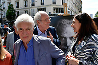 Guy BEDOS, Maxime LE FORESTIER, Anne HIDALGO - Inauguration Place Georges Moustaki - 23/5/2017 - Paris - France