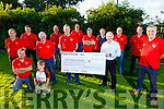 Members of the Abbeydorney Vintage Society present a cheque €7386.08 by Brian McKenna (Secretary) to Joe Hennerby of the Kerry Hospice Palliative Care on Friday night.<br /> Front l to r: Eamon and Tom O'Connell, Donal McGrath, Brian McKenna, Joe Hennerby and Mike Baker.<br /> Back l to r: Johnny O'Sullivan, George Marshall, Jack O'Connor, Kian O'Mahoney, Tom Enright, Paul Byrne, Robert Sheehy and Tom Fitzmaurice.
