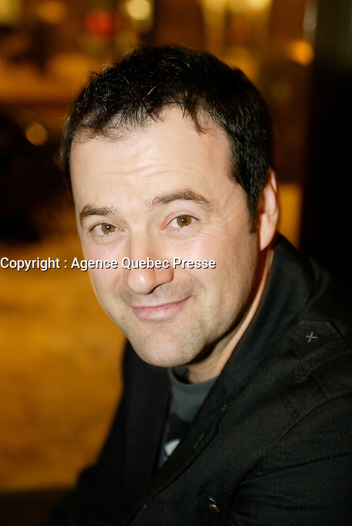 Montreal (Qc) CANADA - December 2007 file photo-<br /> Jeff Boudreault at the<br /> launch of La galere (TV) DVD.