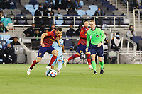 SAINT PAUL, MN - APRIL 24: Emanuel Reynoso #10 of Minnesota United FC battles for the ball during a game between Real Salt Lake and Minnesota United FC at Allianz Field on April 24, 2021 in Saint Paul, Minnesota.