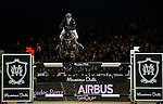 Jessica Mendoza of United Kingdom riding Spirit T  in action during the Hong Kong Jockey Club Trophy competition as part of the Longines Hong Kong Masters on 13 February 2015, at the Asia World Expo, outskirts Hong Kong, China. Photo by Victor Fraile / Power Sport Images