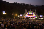 A night concert at the Hollywood Bowl outdoor amphitheatre, Los Angeles, CA